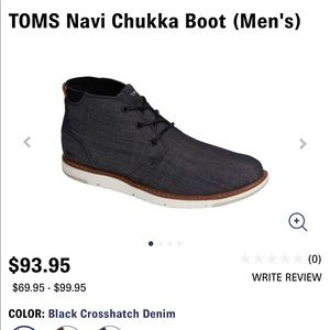 TOMS Mens SZ 11 Chuka-  Used